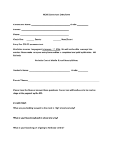 Middle School Beauty and Beau Entry Form