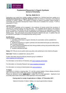Postdoctoral Researcher in Organic Synthesis School of Chemistry