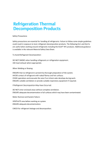 Refrigerant Thermal Decomposition Products