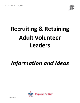 Recruiting & Retaining Adult Volunteer Leaders Information and Ideas