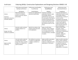Draft Rubric Enduring Skill(s): Construction Explanations and