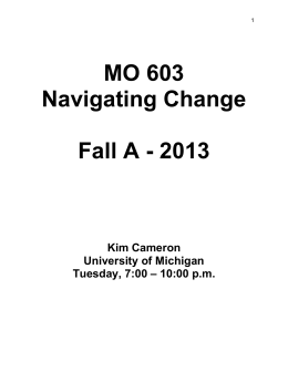mo 603 syllabus - Center for Positive Organizations