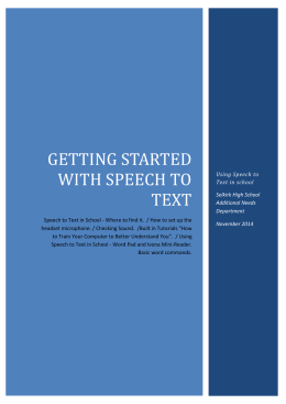 Getting Started with Speech to Text
