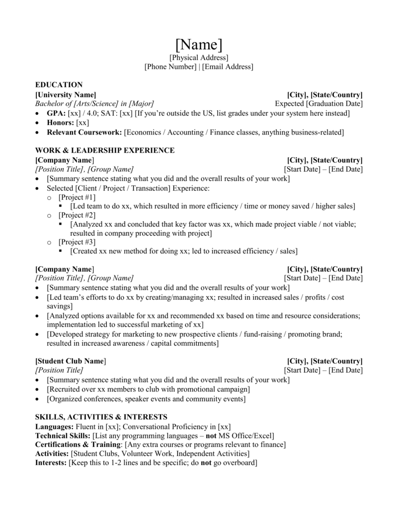 can you put current classes on resume