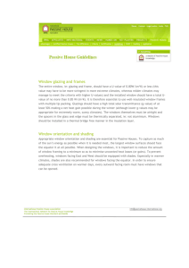 Passive House Guidelines Window (doc)