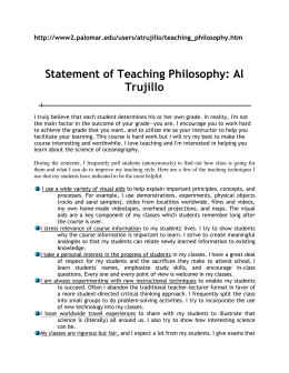 Trujillo Al teaching phil for students