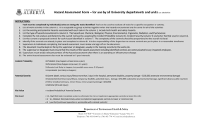 hazard assessment template - Environmental Health and Safety