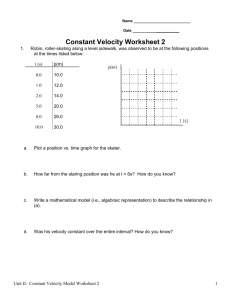 Constant Velocity Worksheet 2