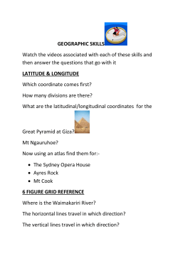 GEOGRAPHIC SKILLS questions to go with videos 2[1]
