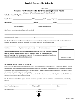 Medication Request Form