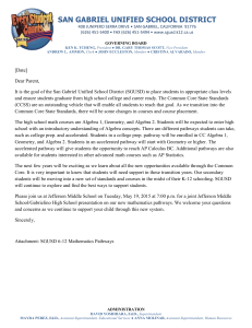 Parent Letter - Gabrielino High School
