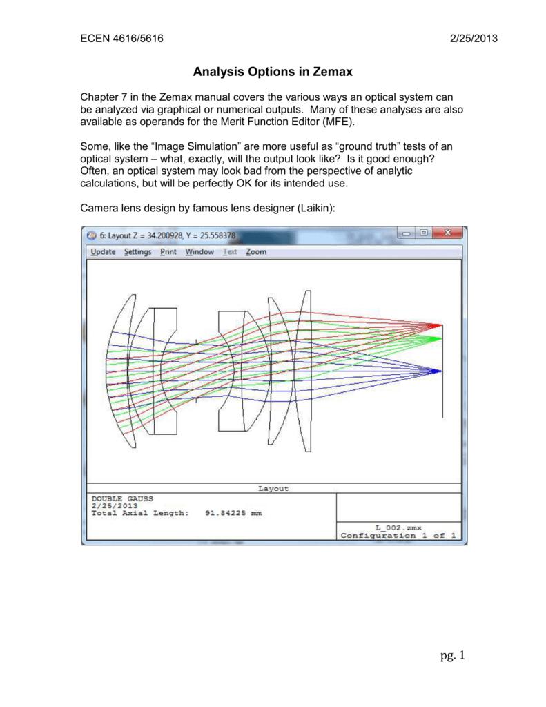 16) AnalysisOptionsZemax(2-25