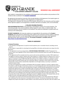 Residence Hall Agreement - University of Rio Grande