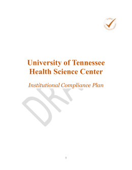 Institutional Compliance Plan - Office of Institutional Compliance