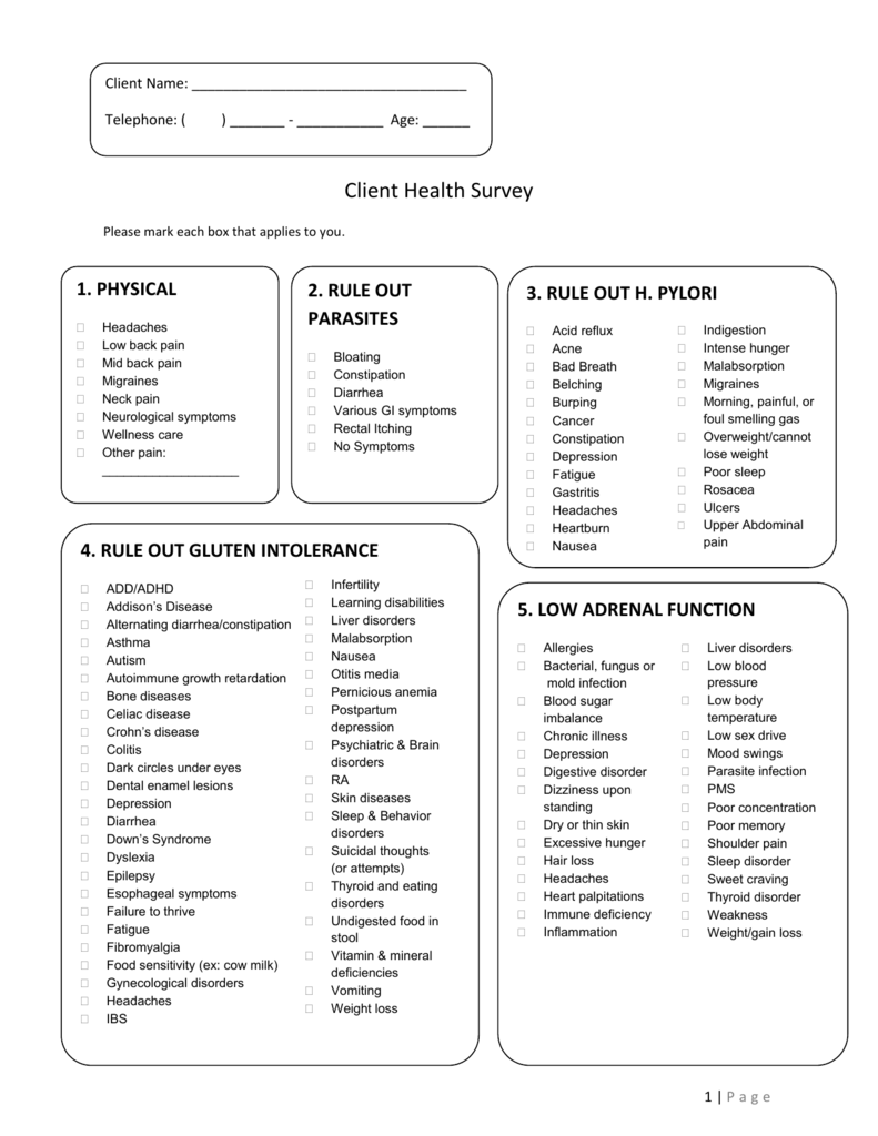 5  Patient Health Survey