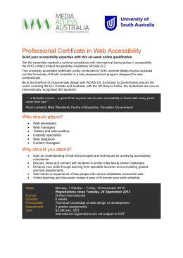 Professional Certificate in Web Accessibility Application Form