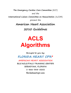 ACLS Cover Page - Florida Heart CPR