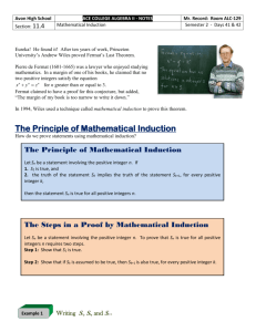 11.4 - Mathematical Induction