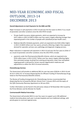 The price amendments from 1 December 2013 include