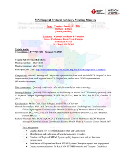 MN Hospital Protocol Advisory Meeting Minutes