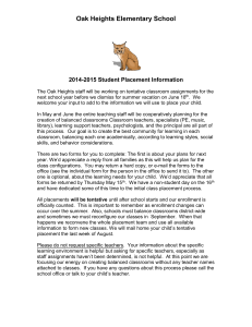2003-2004 Student Placement Information