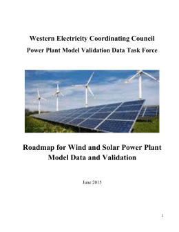Wind Power Power Plant Model Data and Validation Roadmap 2015