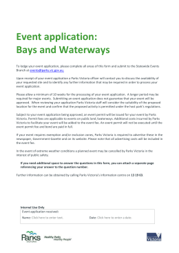 Bay & Waterway Event Application Form (editable)