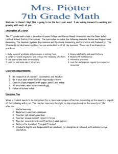 7th Grade Class Syllabus - Deer Valley Unified School District