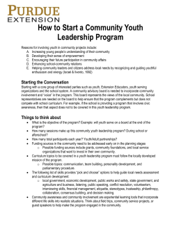 How to Start a Community Youth Leadership Program