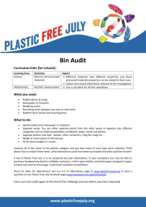 Bin Audit Record Sheet
