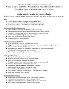 Racial Identity Model for People of Color