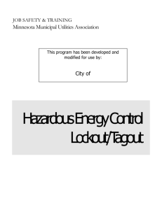 Lockout/Tagout - League of Minnesota Cities