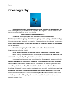 Oceanography Picture Notes