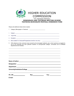 Textbook & Monograph proposal submission form