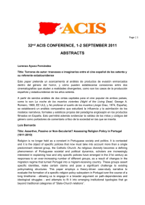 32 nd ACIS CONFERENCE, 1-2 SEPTEMBER 2011 ABSTRACTS
