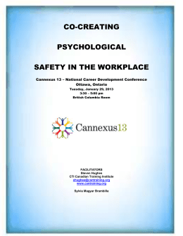Co-Creating Psychological Safety