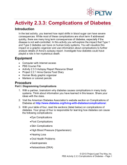Activity 2.3.3: Complications of Diabetes Introduction