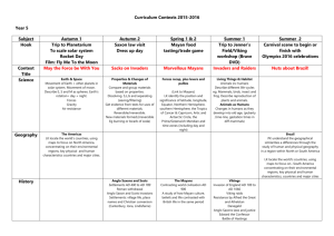Year 5 Contexts for Learning 2015 16