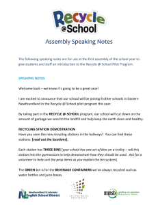 Assembly Notes – New Schools 2015-16