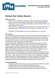 Vietnam War Gallery Session