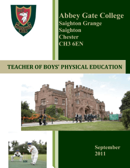 Teacher of Boys` Physical Education