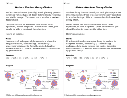 Nuclear Decay Chains Notes
