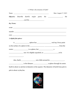 What is the structure of Earth? Name: Date: August 17, 2015