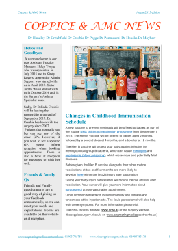 Read our Newsletter - The Coppice & Angmering Medical Centre