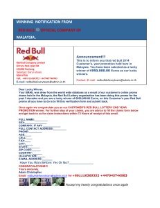 winning notification from red bull official company of malaysia