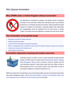 UKWIN Why Oppose Incineration