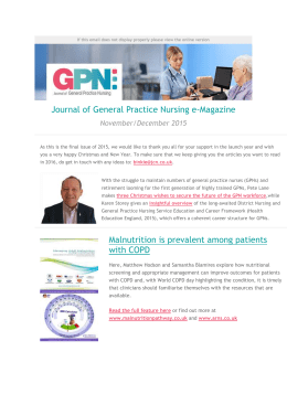Journal of General Practice Nursing e-Magazine