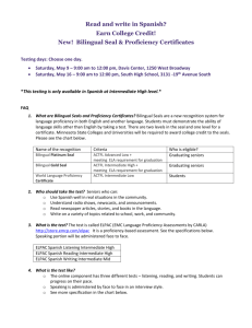 New! Bilingual Seal & Proficiency Certificates