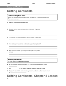 Drifting Continents Chapter 5 Lesson 1