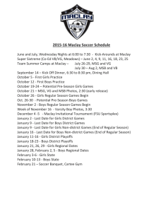 2015-16 Maclay Soccer Schedule